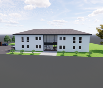 Projekt-News: Büroneubau mit 2 Wohnungen