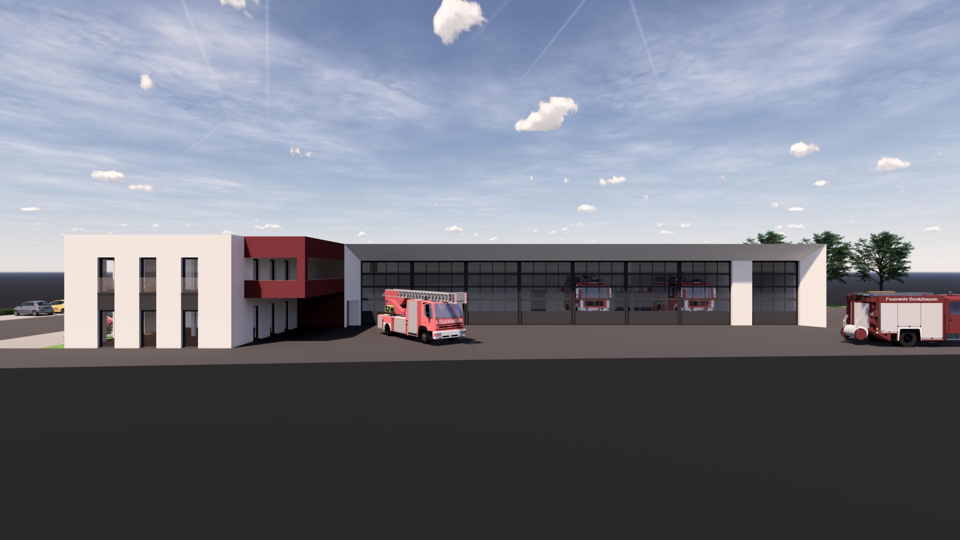 Neubau eines Feuerwehrgerätehauses in Beratzhausen